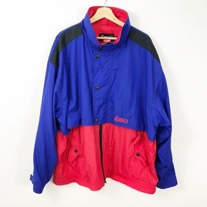 VTG 90's Nordica Shell Jacket Red Blue XXL